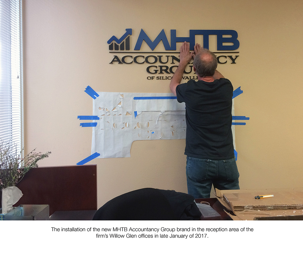 MHTB Accountancy Group Reception Desk Getting Its New Look