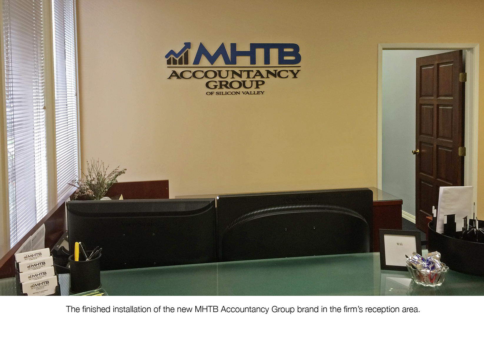 MHTB Accountancy Group's New Reception Wall Sign