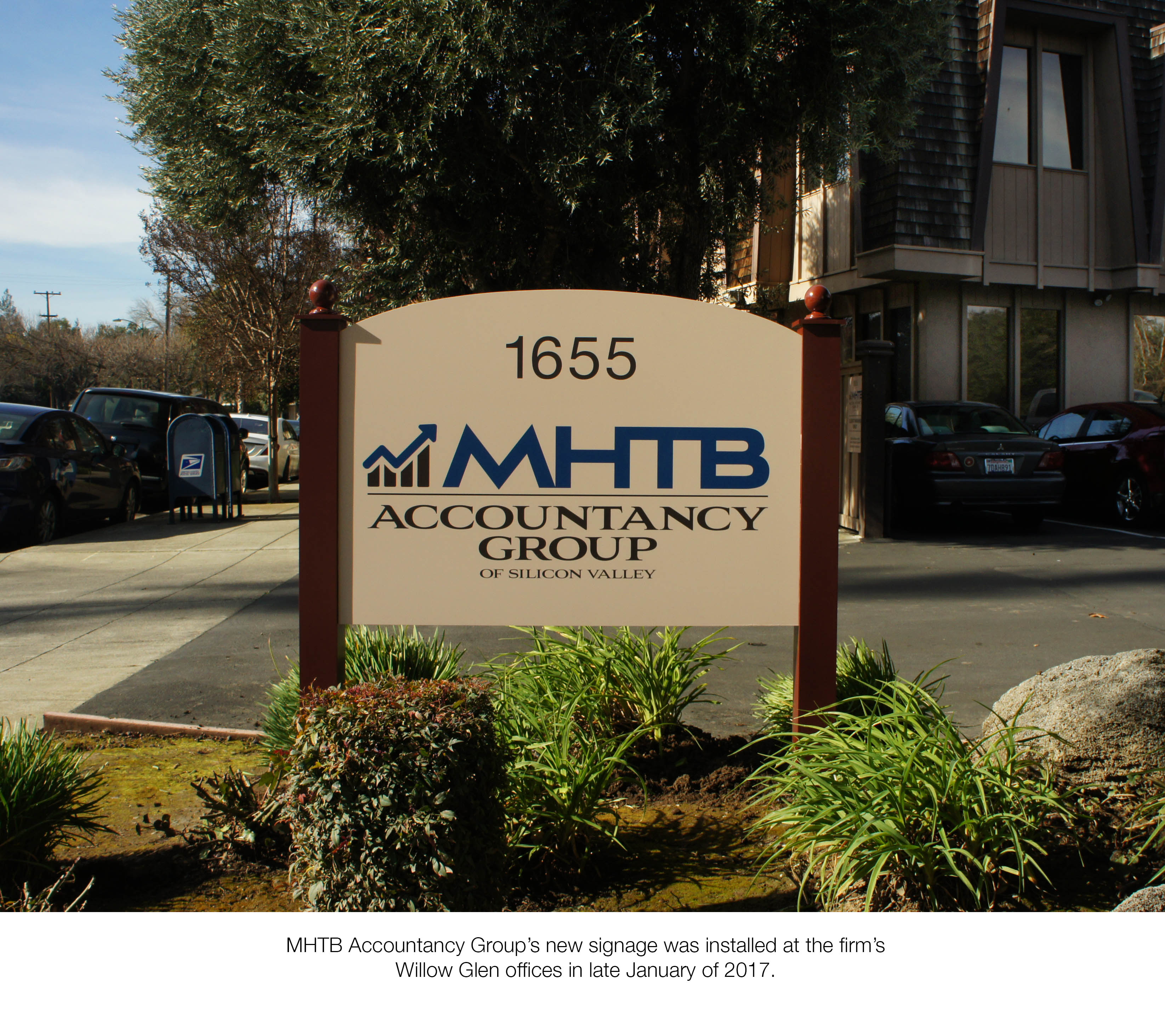 MHTB's New Front Entry Double-Sided Sign